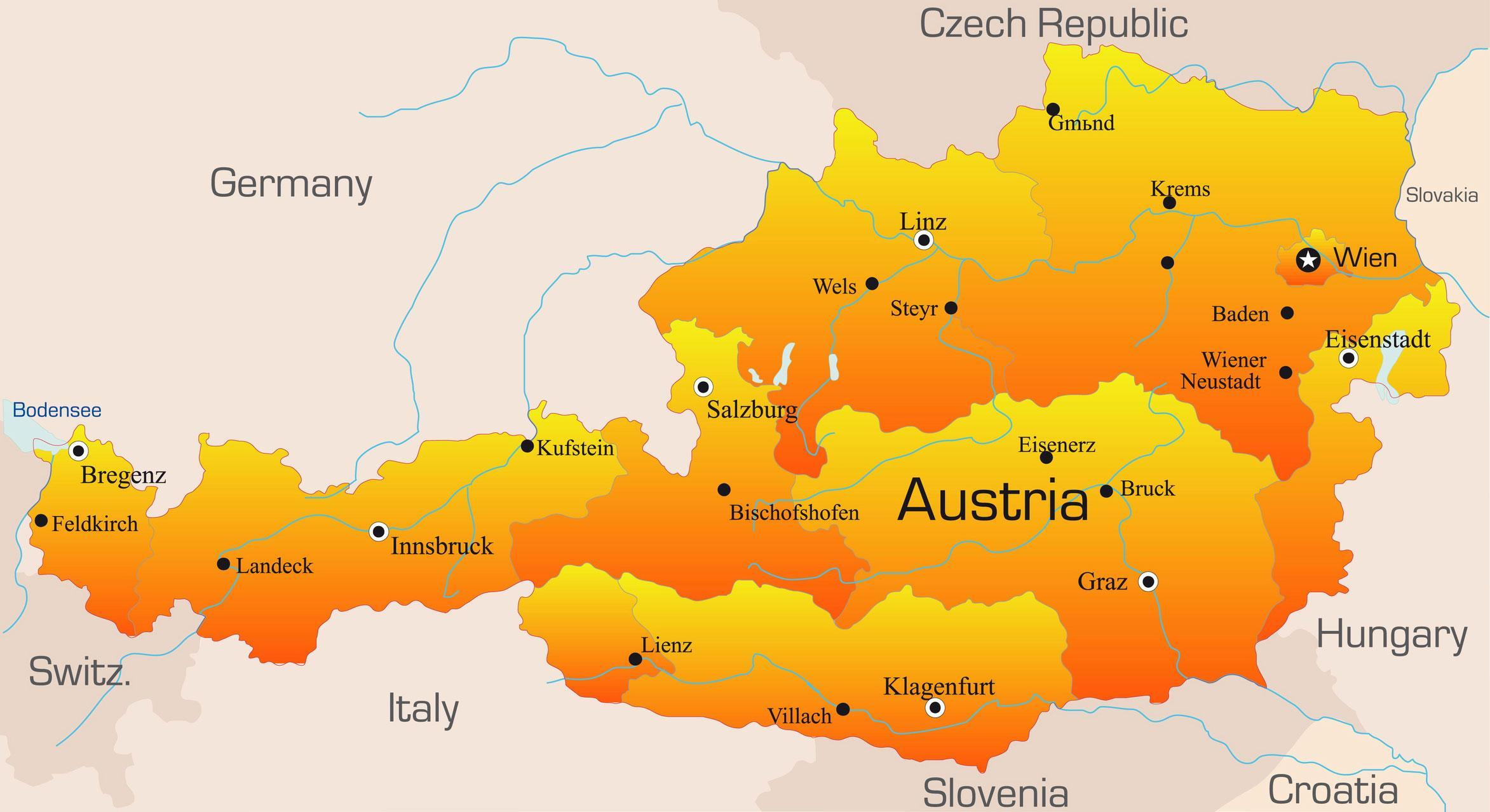 DMC In Austria With Extensive Knowledge To Assist With Your Groupt - Austria on world map